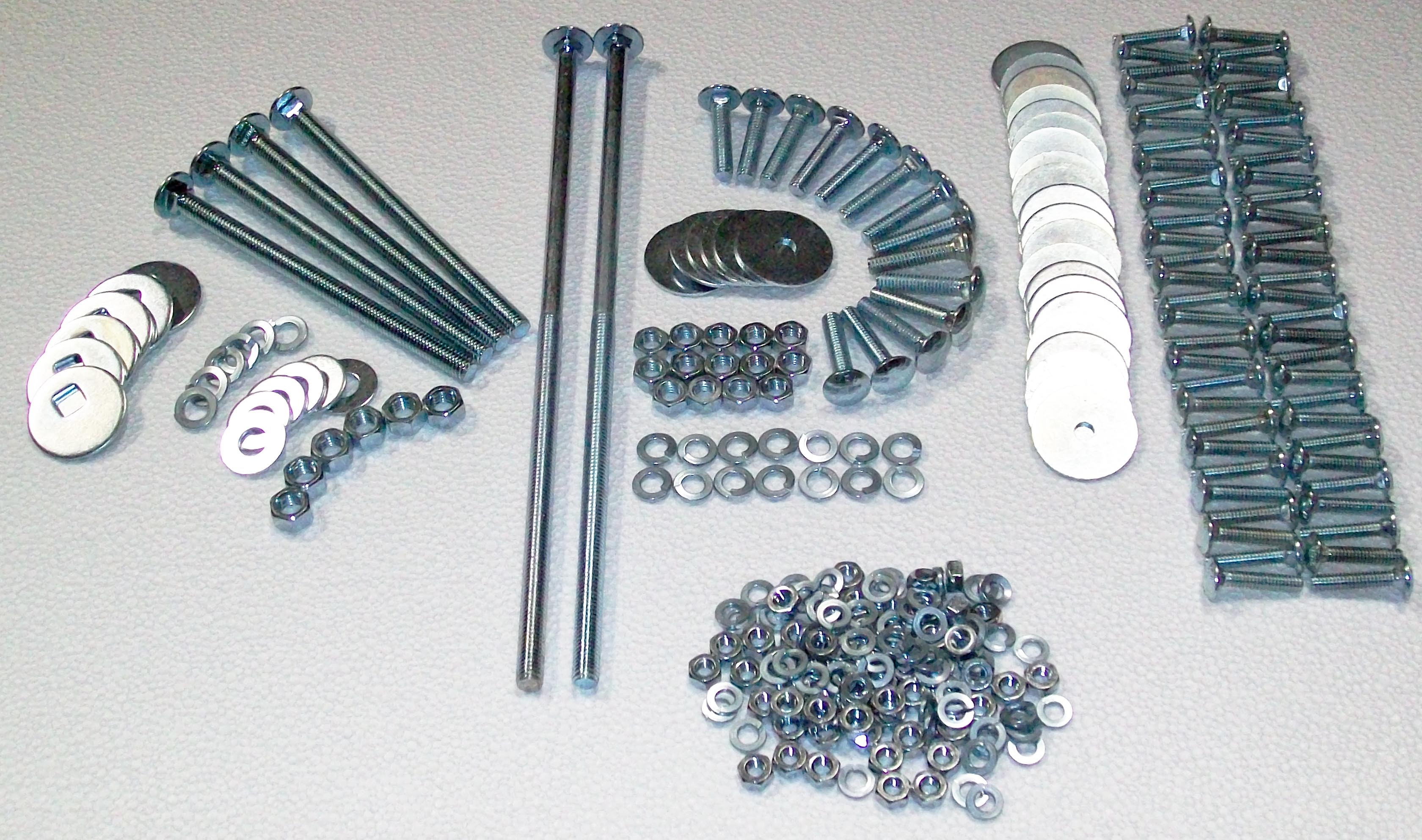 1947 1953 Long Bed To Frame Bolt Kit Polished Stainless