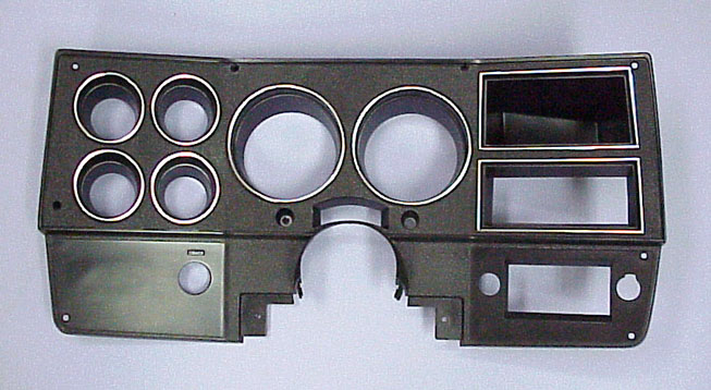 1978 1980 instrument bezel with a c black silver gm truck for 1980 chevy truck interior parts