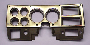 1978-1980 Instrument Bezel without A/C Brushed Aluminum Style - GM Truck