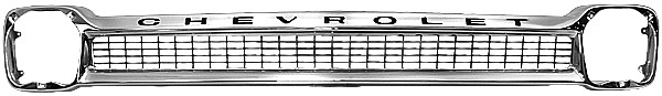 1964-1966 Chevrolet Chrome Grille with Chevrolet Letters