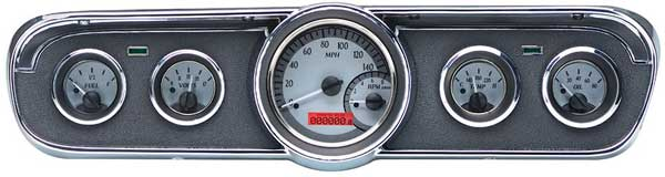 1965-1966 Ford Mustang VHX Instrument Gauge Cluster - Black Face / Red Illumination