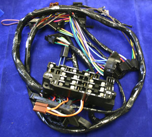 1969 under dash wire harness  for trucks with warning