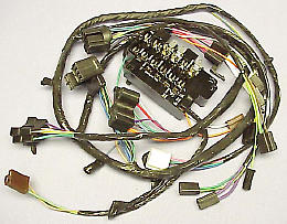 1964 1965 under dash wire harness for trucks with factory gauges rh tuckersparts com 1964 chevy pickup wiring harness 1964 chevy c10 wiring harness