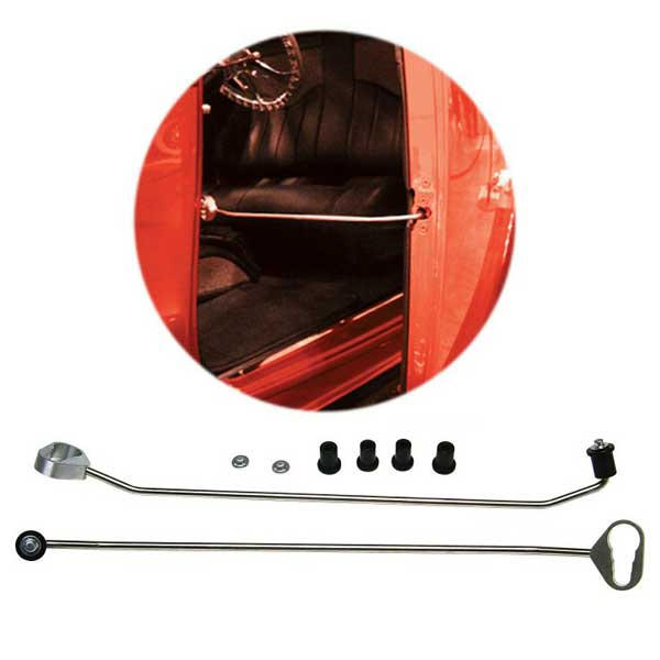 Door Prop Kit  sc 1 st  Tuckers Classic Auto Parts & Stainless Steel door prop kit used with bear claw latches