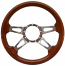 4 SPOKE SLOTS FLAT STEERING WHEEL