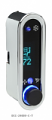 DCC Digital Climate Control - Vintage Air Gen IV - VFD3 Style - Vertical, Chrome, Teal Display
