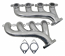 LS Cast Iron Exhaust Manifold Set, Ceramic Coated Silver