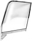 1955-1959 Complete Chrome Door Glass Assembly RH (Clear)