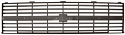 83-84 Inner Grille Dark Gray Dual Headlights -Chevy/GM Truck