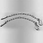 1954-1987 Tailgate Chains Stepside (Zinc) - GM Truck