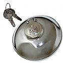 1938-1963 Gas Cap Locking Chrome GM Embossed Chevy-GMC Truck