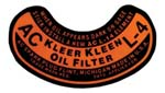 1947-1954 AC Oil Canister Decal - GM Truck