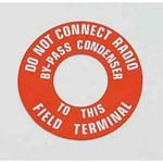 1947-1955 Engine Generator Warning Tag - Universal