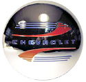 1941-1946 Hub Cap Red & Blue Painted Detail 4 pc. - Chevy Truck