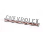 "1947-1949 Side Hood Emblems ""Chevorlet Thriftmaster"" - Chevy Truck"