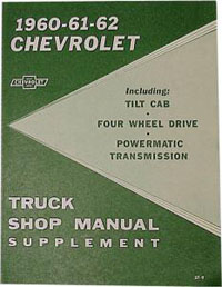 1960-1962 Truck Service Manual - Chevy Truck