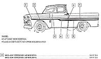 1962-1966 Chevy & GMC Upper Cab Side Molding - GM Truck