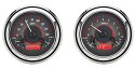 1947-1953 Chevrolet & GMC Truck VHX Instrument Gauge Cluster - Carbon Face / Red Illumination