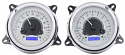 1947-1953 VHX Instrument Gauge Cluster Silver Face/Blue Illumination - Chevrolet/GMC Truck