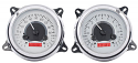 1947-1953 Chevrolet & GMC Truck VHX Instrument Gauge Cluster - Silver Face / Red Illumination