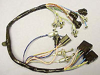 1963 Dash Cluster Wire Harness (For Trucks with Warning Gauges)- GM Truck