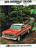 1973 Sales Brochure Reproduction Of Original - Chevy Truck