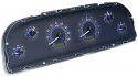 1960-1963 Carbon/Blue Illumination VHX Series Cluster Chevy Truck (Free Shipping)
