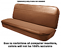 1960-1966 Bench Seat Cover Vinyl-Cloth Saddle/Saddle - GM Truck