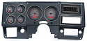1973-1987 Chevrolet & GMC Truck VHX Instrument Gauge Cluster - Carbon Fiber Face / Red Illumination