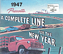 1947 Sales Brochure Truck Reproduction Of Original - Chevrolet