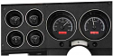 1973-87 Chevy Truck Black with Red Illumination VHX Series Instrument Cluster  (Free Shipping)