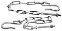 1947-1953 Tailgate Chains (Zinc) - GM Truck