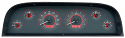 1960-1963 Carbon/Red Illumination VHX Series Instrument Cluster Chevy Truck (Free Shipping)