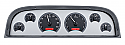 1960-1963 Chevrolet VHX Series Gauges Silver Face Red Illumination - GM Truck (Free Shipping)