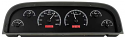 1960-63 Black/Red Illumination VHX Series Dakota Digital Instrument Cluster - Chevy Truck