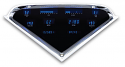 1955 2nd-1959 Chevrolet Truck VFD Digital Dash Gauge System - Blue