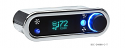 DCC Digital Climate Control - Vintage Air Gen IV - VFD3 Style - Horizontal, Satin Bezel, Teal Display