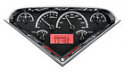 55-59 Chevy/GMC Truck Dakota Digital VHX Series Gauges, Red Illumination with black face.