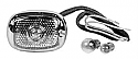 1940-1953 Chevrolet & GMC Tail Light Assembly, Polished Stainless (Passenger Side) - GM Truck