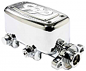 Master Cylinder With Built In Proportioning Valve, Chrome - Universal