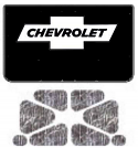1973-80 Chevrolet Truck Under Hood Cover-One Piece-with G-010 Bowtie Chev AcoustiHood Kit