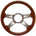 4 SPOKE HOLES FLAT STEERING WHEEL BROWN