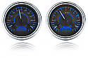 1954-1955 VHX Series Gauge Cluster (Carbon Fiber Face Blue Illumination)