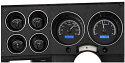 1973-1987 Chevrolet & GMC Truck VHX Instrument Gauge Cluster - Black Face / Blue Illumination