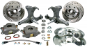 1960-1962 (5x5) 5-lug stock height OE Stock Spindle Wheel Brake Kit -GM