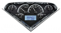 1955 2nd-1959 Chevrolet Truck VHX Instrument Gauge Cluster -  Black Face / White Illumination