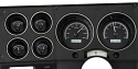 1973-1987 Chevrolet & GMC Truck VHX Instrument Gauge Cluster - Black Face / White Illumination