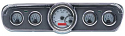 1965-1966 Ford Mustang VHX Instrument Gauge Cluster - Silver Face / Red Illumination