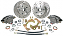1963-1970 5 on 4-3/4 kit Stock Height 5-Lug Wheel Brake Kit