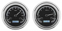 1947-1953 Chevrolet & GMC Truck VHX Instrument Gauge Cluster - Black Face / Blue Illumination